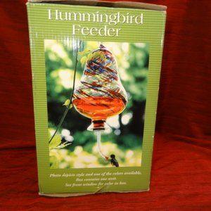 Blown Glass Hummingbird Feeder New in Box